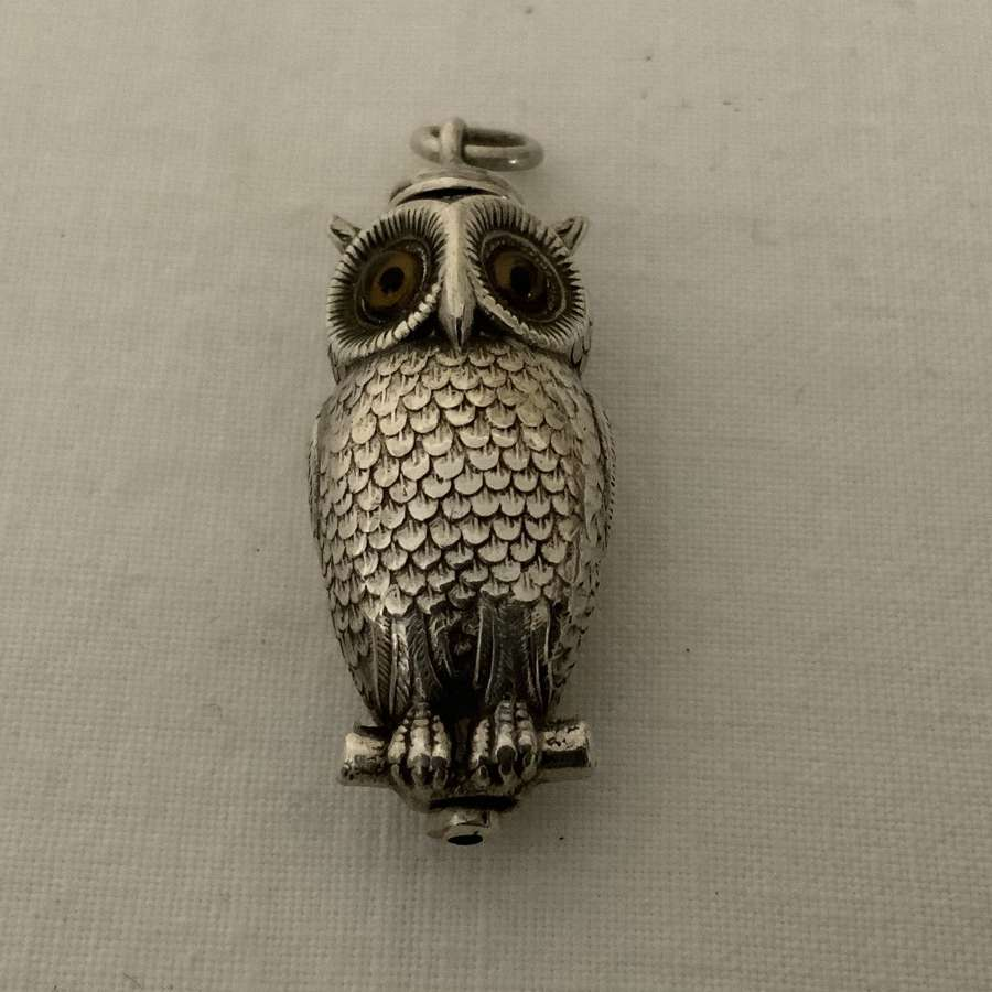Sampson Mordan silver owl pencil