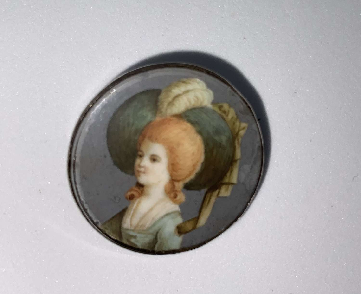Portrait miniature brooch