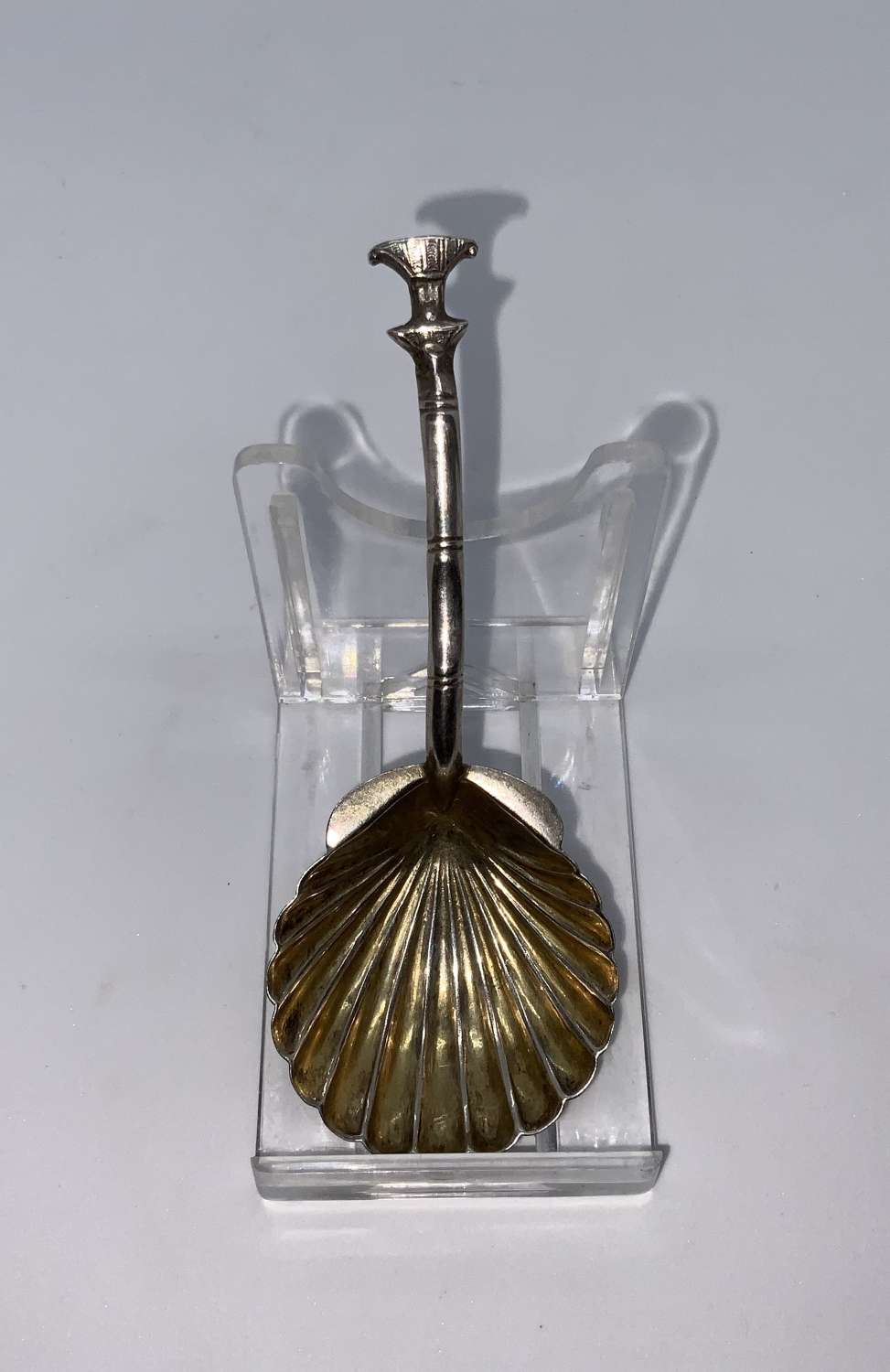Chinese silver caddy spoon