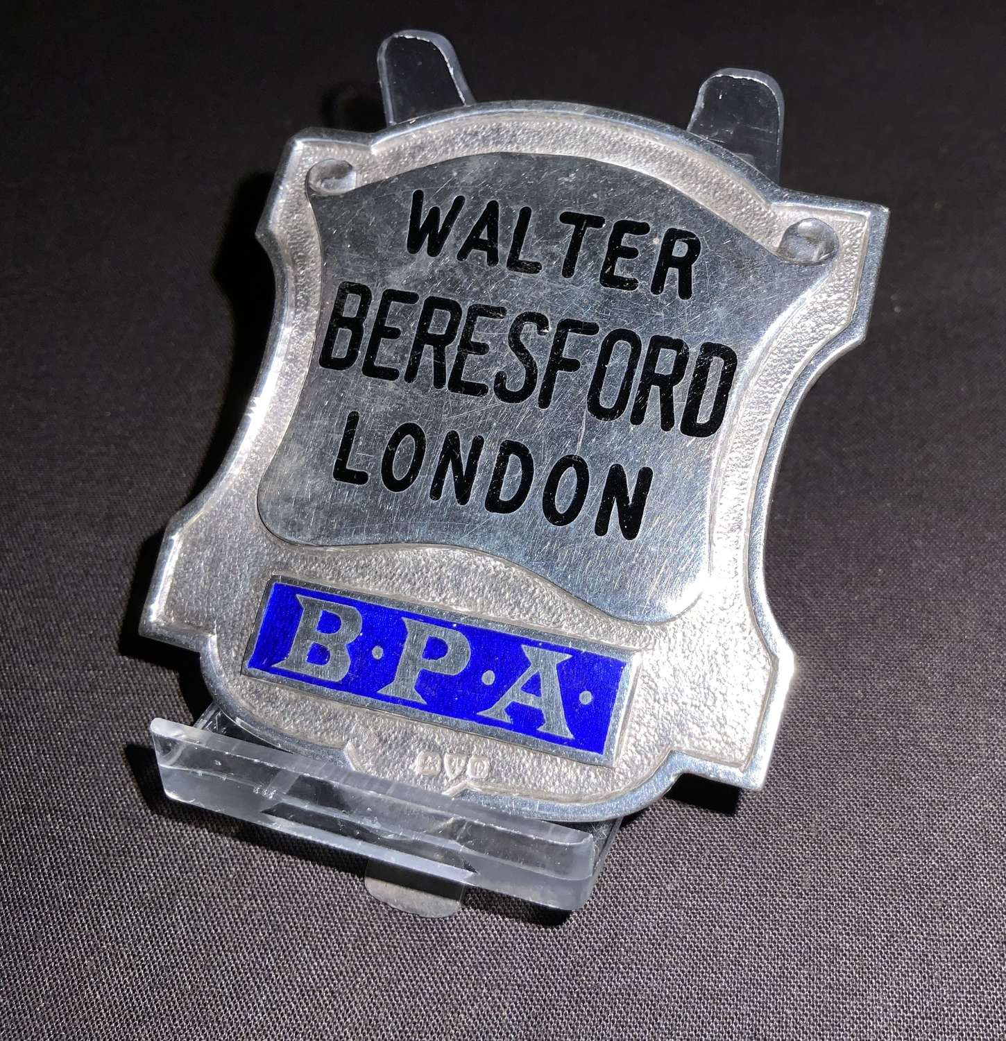 Silver bookmakers badge
