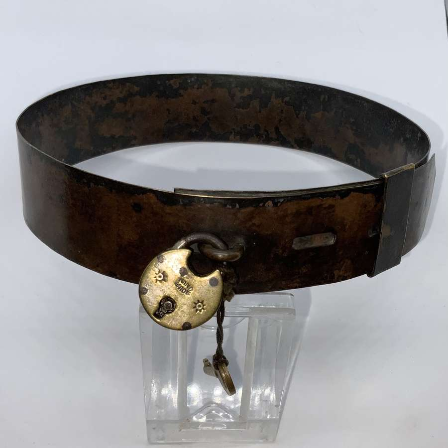 Rare early 19th century dog collar