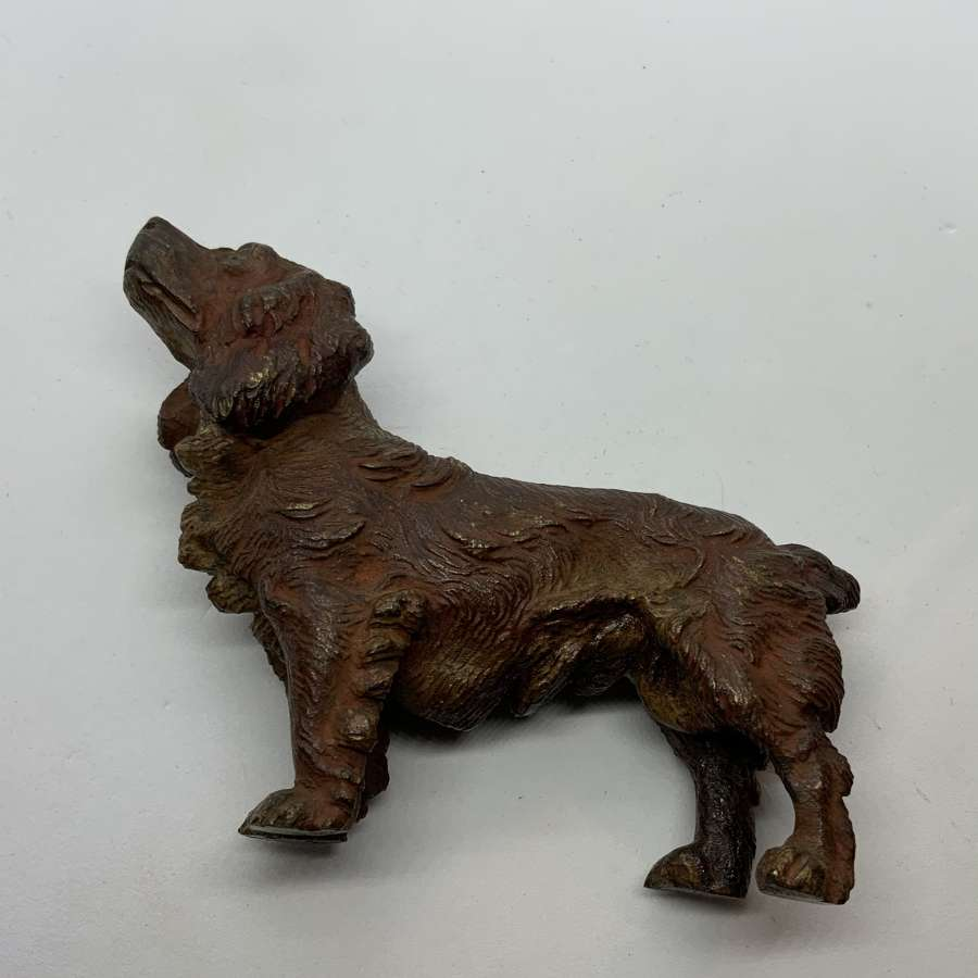 Cold painted bronze spaniel