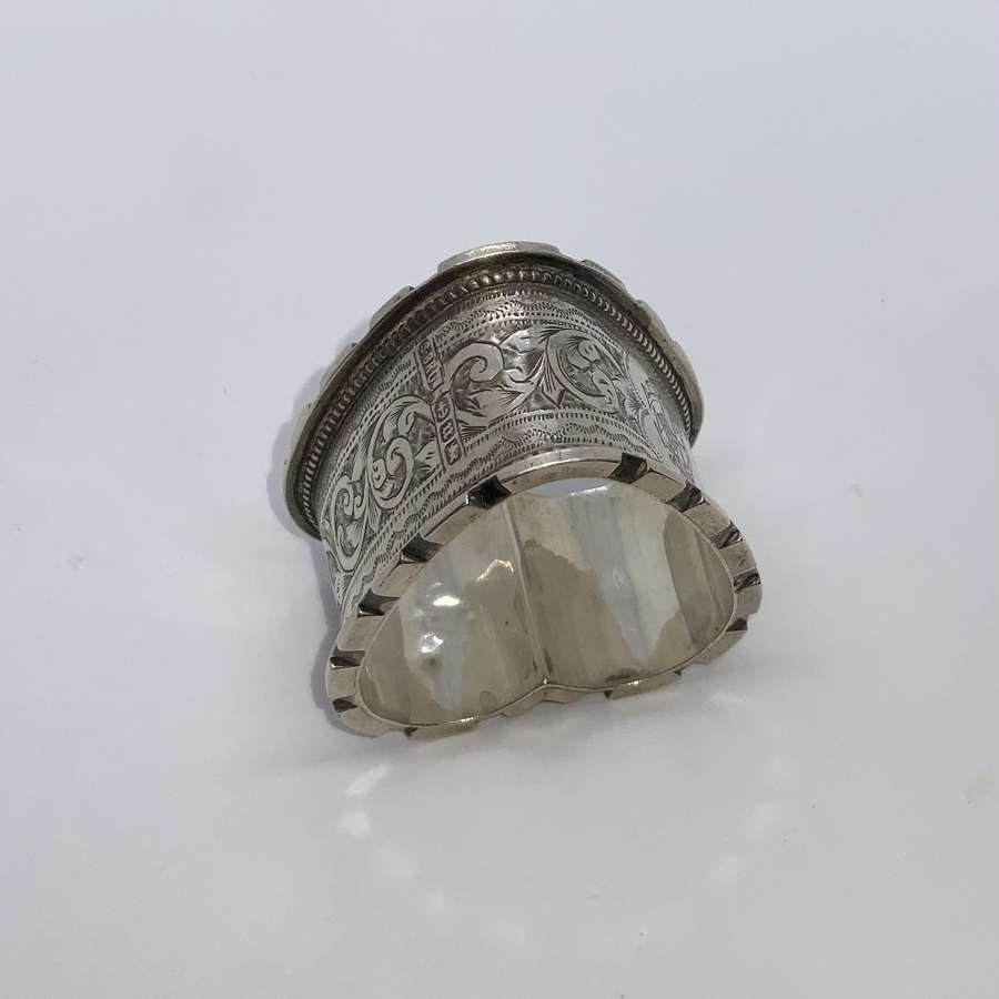 Heart Shaped silver napkin ring