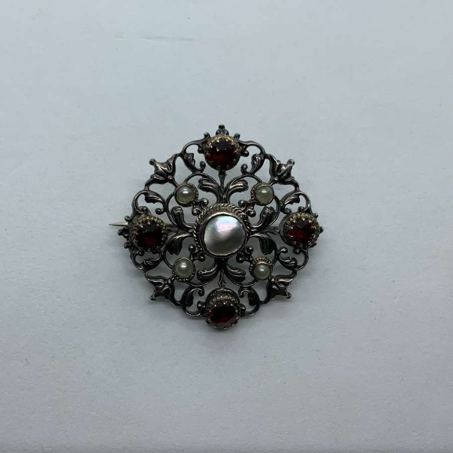 19th Century silver brooch