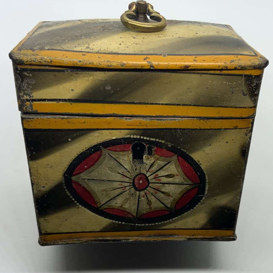 18th Century toleware miniature caddy