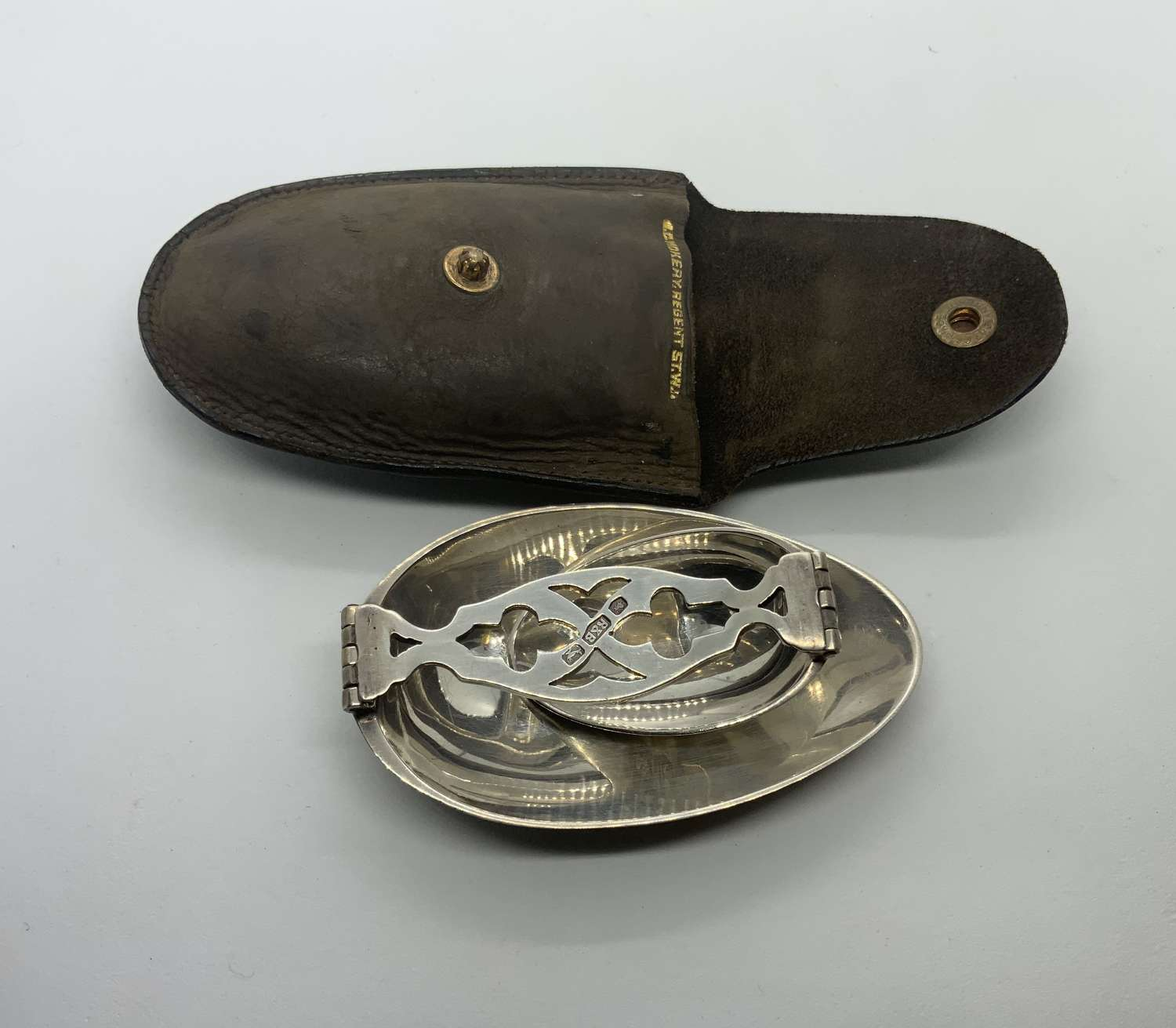Silver double ended medicine spoon
