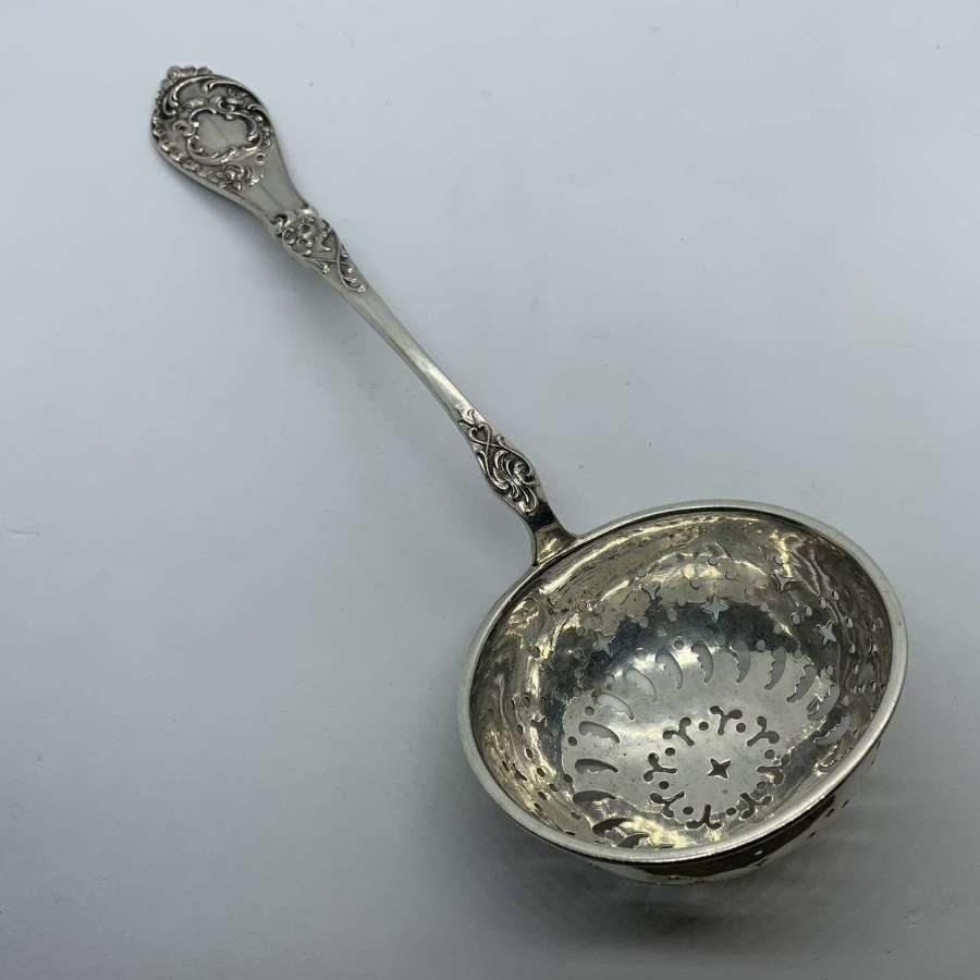 German silver sifter ladle
