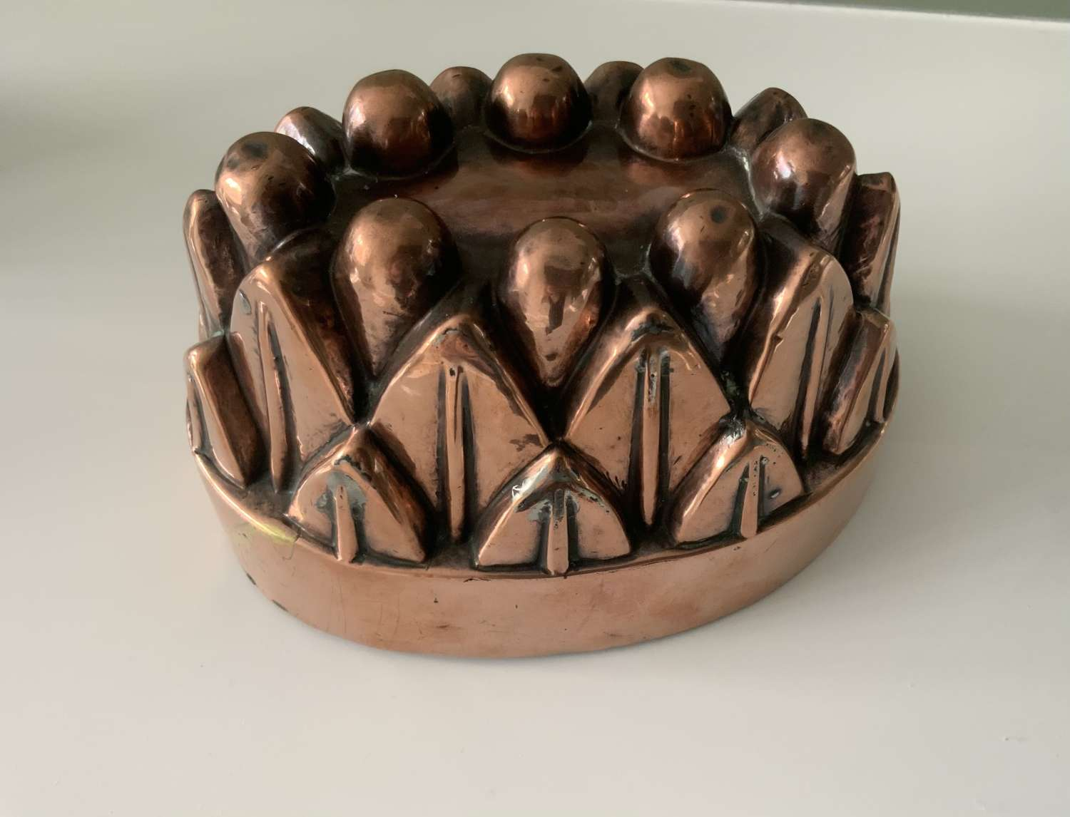 Victorian copper jelly mould