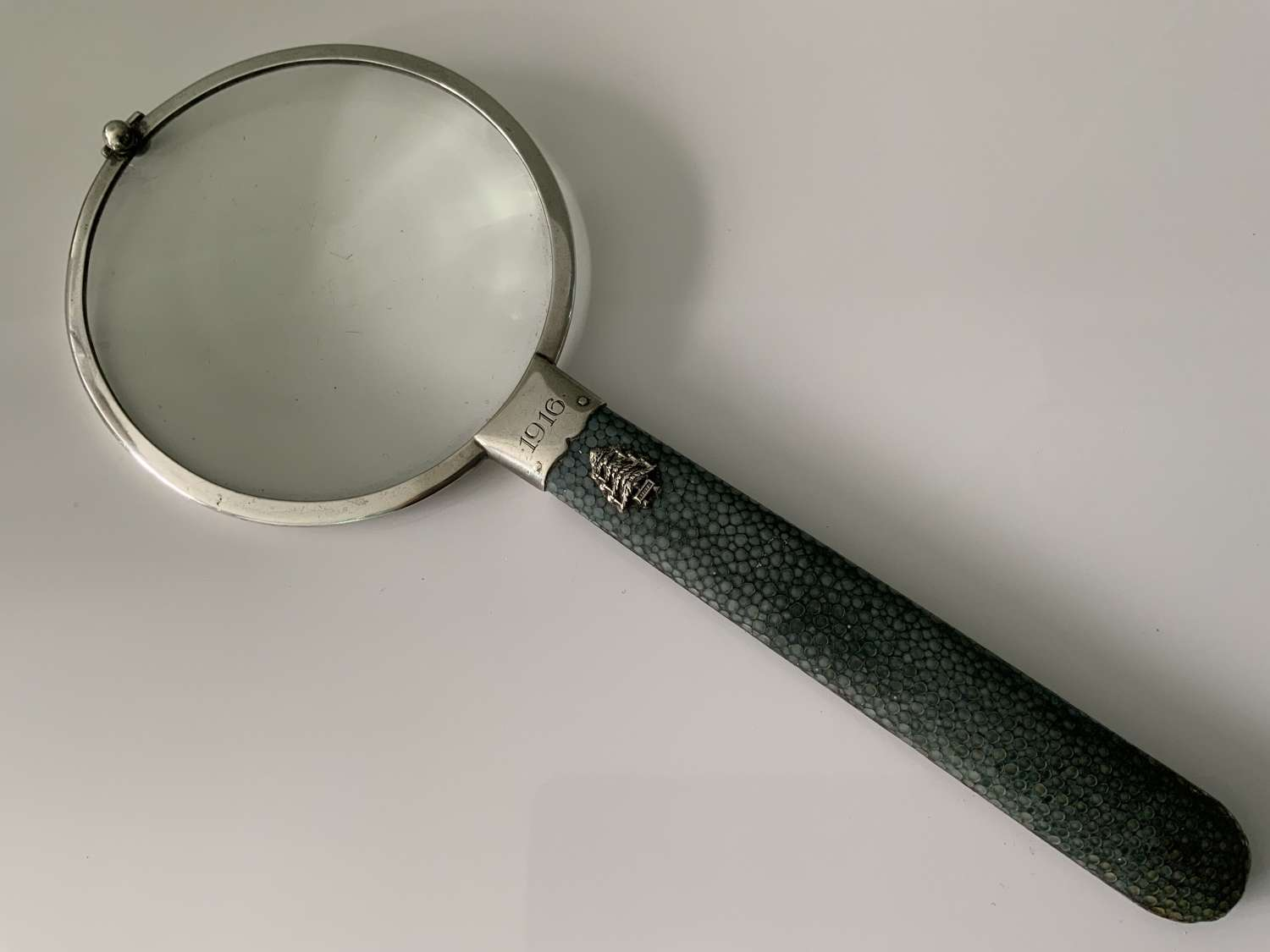 Silver & Shagreen magnifying glass