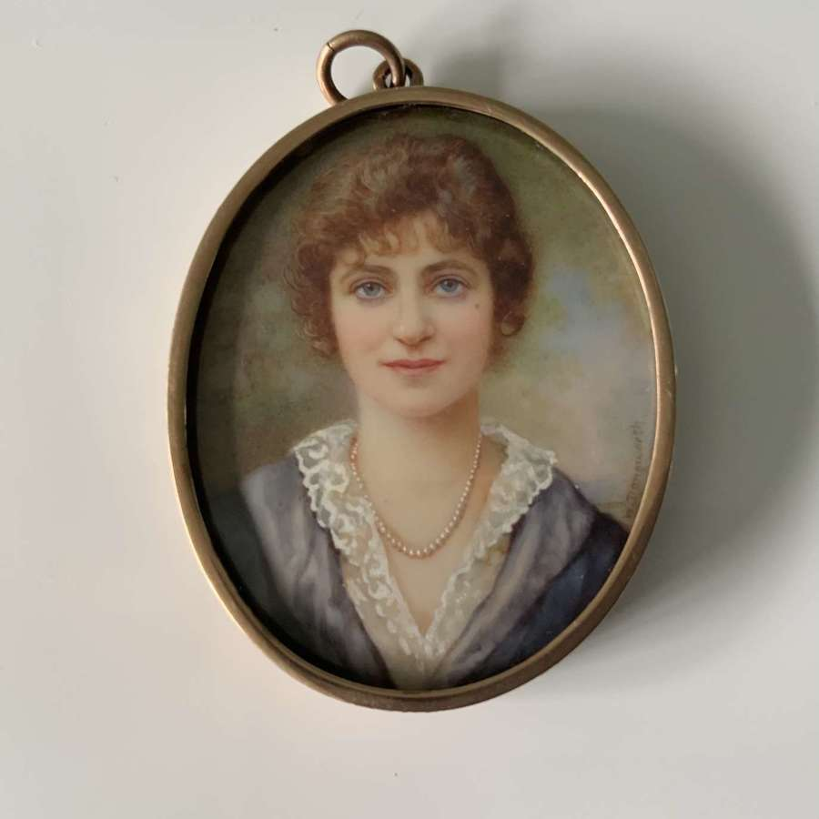 Portrait miniature by Winifred Cecile Dongworth