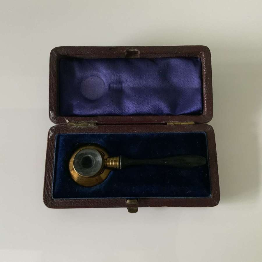 Rare Medical boxed magnifying glass
