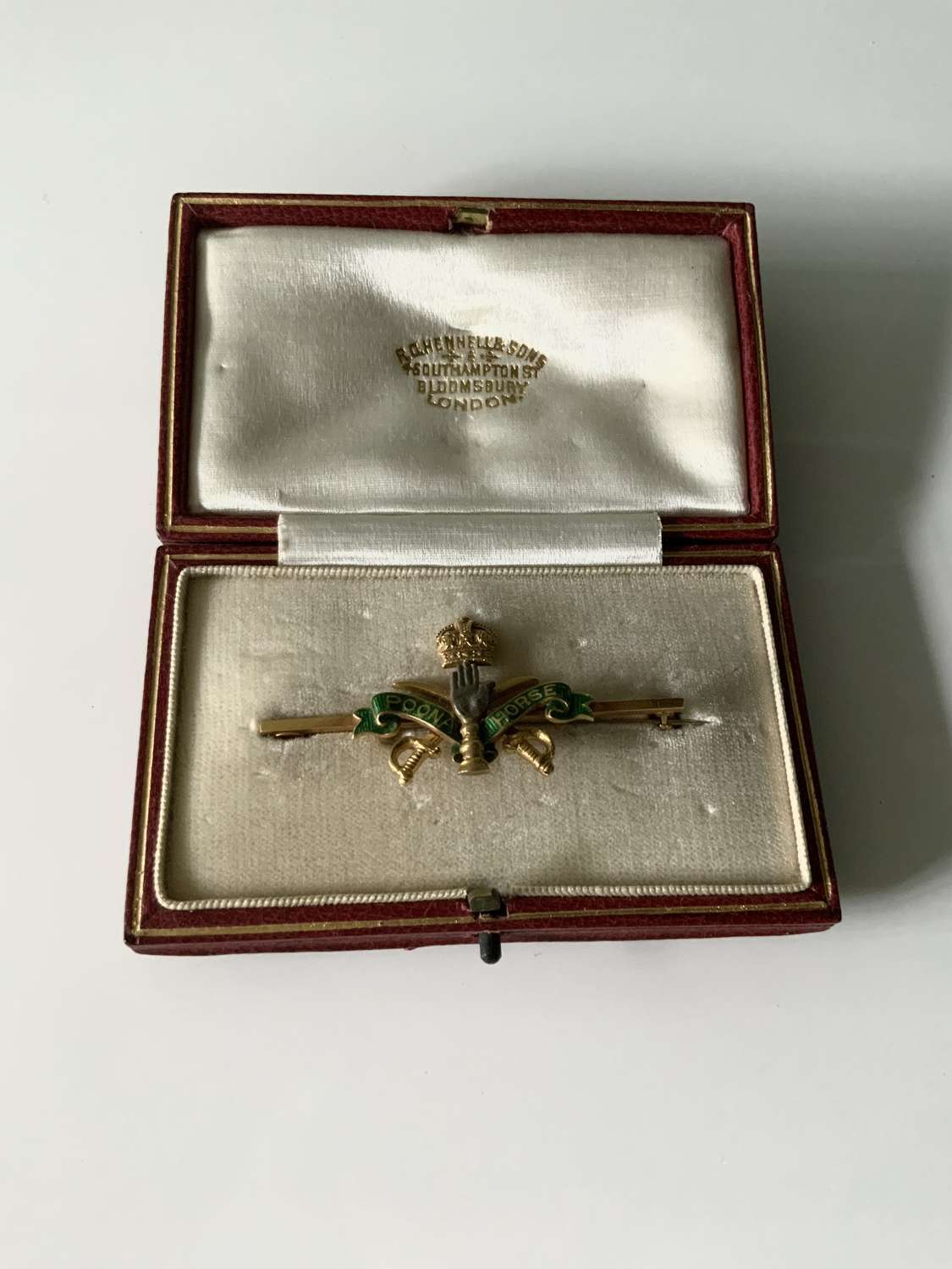 Rare gold Poona Horse Sweetheart brooch