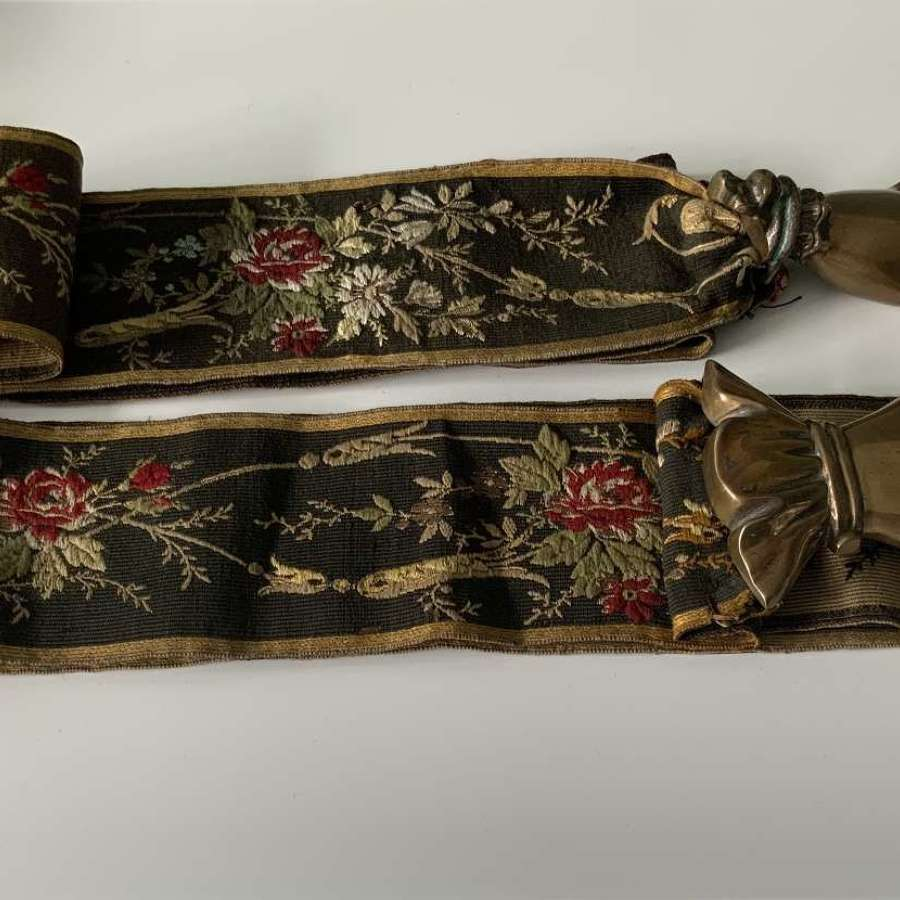 Pair of French 19th century hand bell pulls